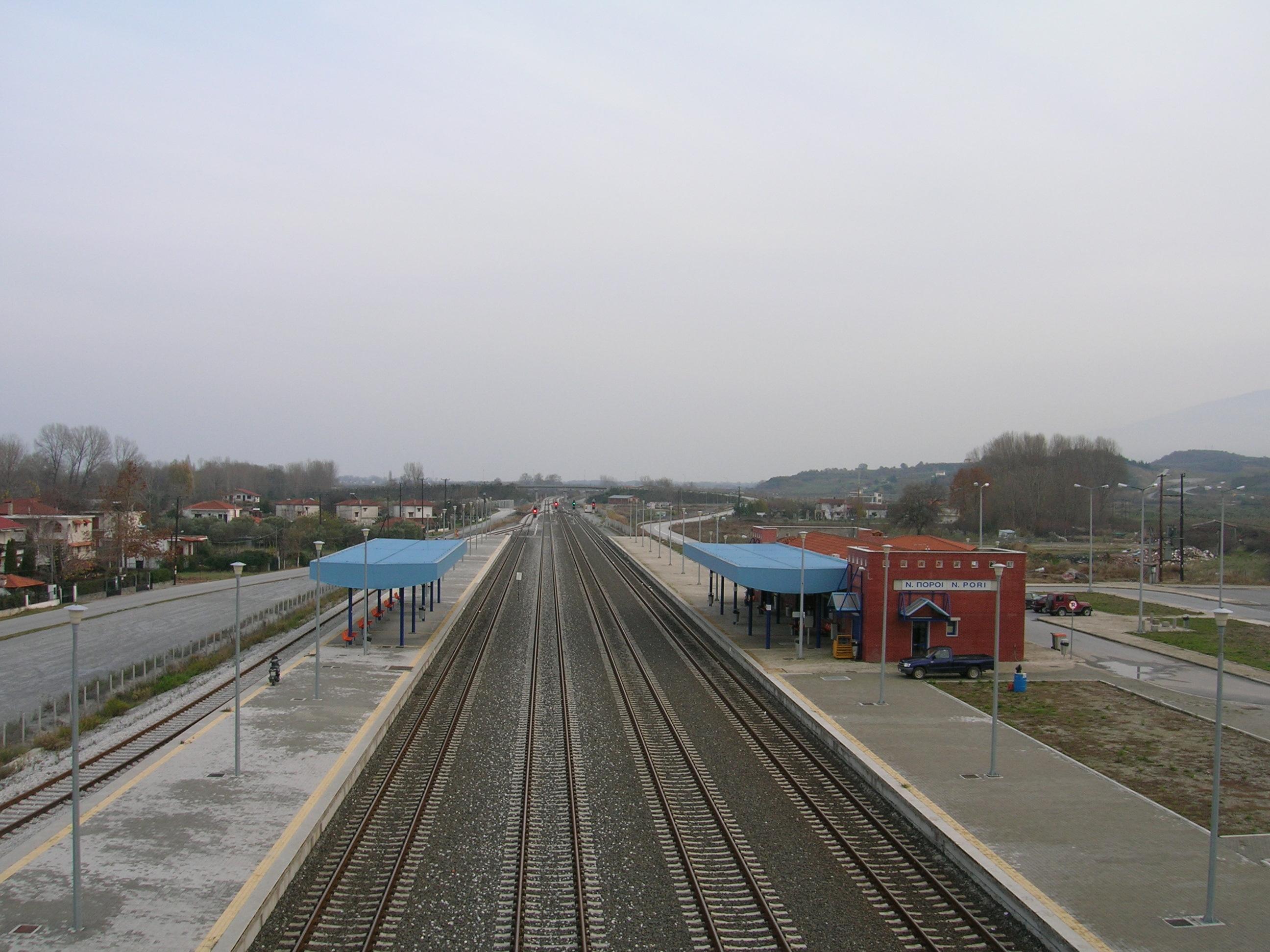 Σήραγγα ΟΣΕ Πλαταμώνα - μετά το Σταθμό Νέων Πόρων